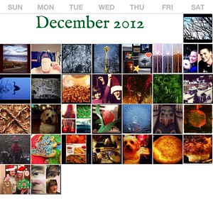 Photo a Day Calendar Collages 2012 - 2015