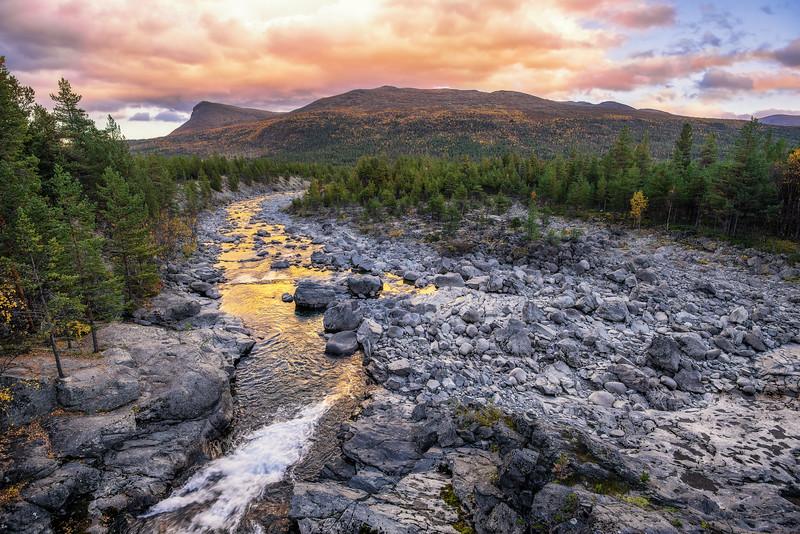 Sjoa river in Jotunheim National Park, Norway