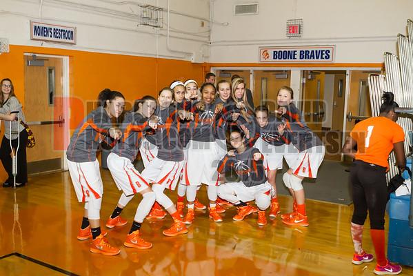 Evans Trojans @ Boone Braves Girls Varsity Basketball - 2015