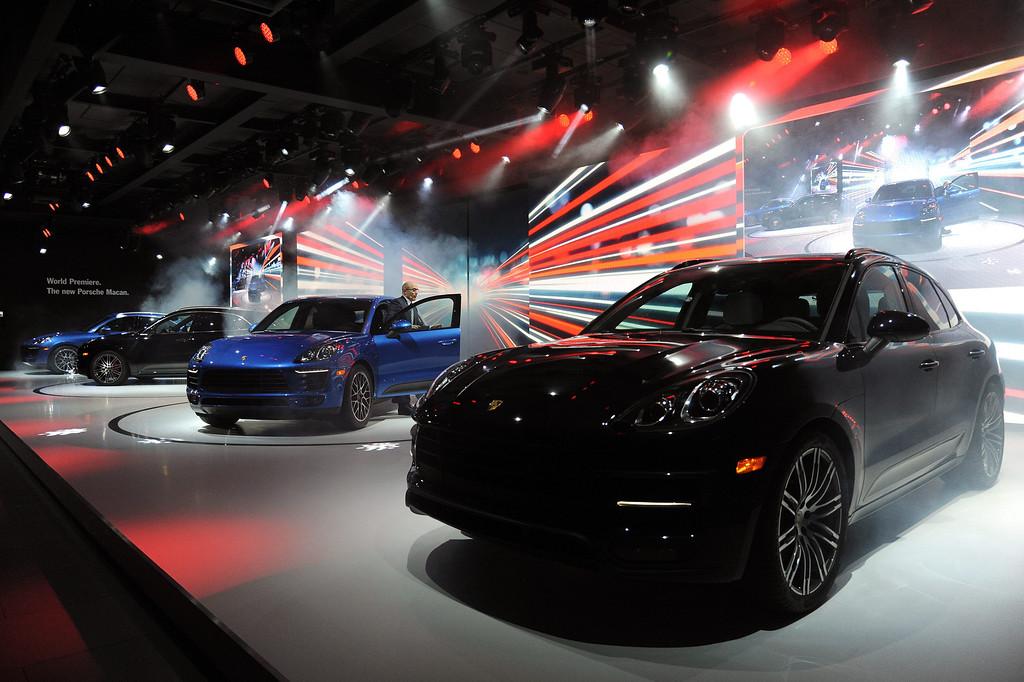 . Porsche world premiere of the Macan at the 2013 LA Auto Show in Los Angeles, California, USA, 20 November 2013.  EPA/BOB RIHA JR