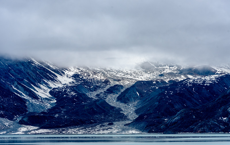 Clouds over glaciers, Inside Passage, Alaska