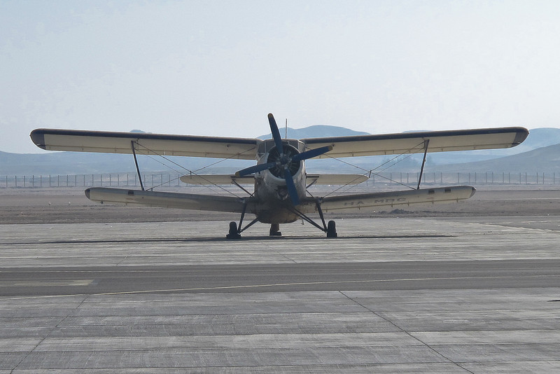 No, we didn't fly in this biplane relic.  It was sitting on the ground at Luxor International Airport, Luxor, Egypt.