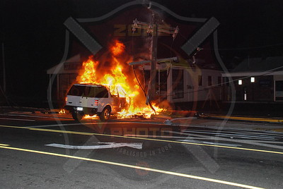 Farmingdale F.D.Merrits Rd. I/F/O 7-11 MVA w/ Car Fire 6/27/08