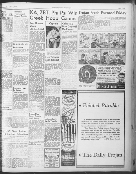 Daily Trojan, Vol. 30, No. 33, November 02, 1938