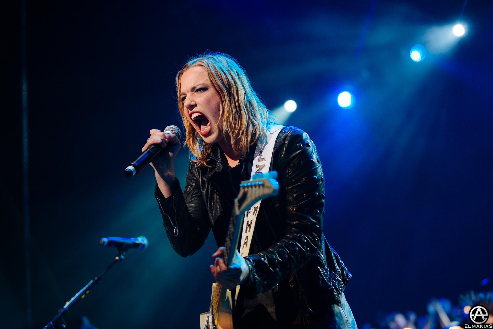 Lzzy Hale of Halestorm live at the Alternative Press Music Awards 2015 by Adam Elmakias