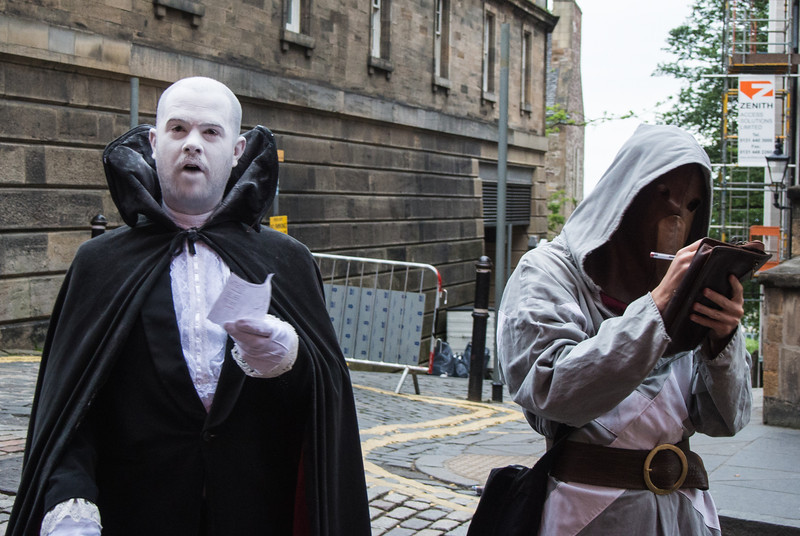 Our guides to the haunted Edinbugh.  Victoria was targeted by these goons.
