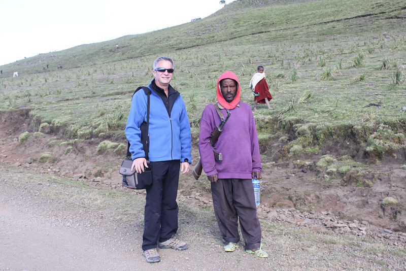 10,700' in Semien Mtns with my bodyguard