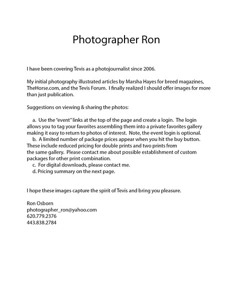 Photographer_ron Information