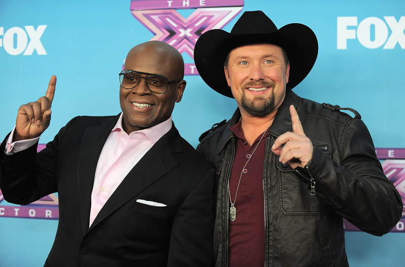 ". Tate Stevens, winner of ""X Factor\"" season 2, right, and his mentor L.A. Reid attend the season finale results show at CBS Television City on Thursday, Dec. 20, 2012, in Los Angeles. (Photo by Jordan Strauss/Invision/AP)"