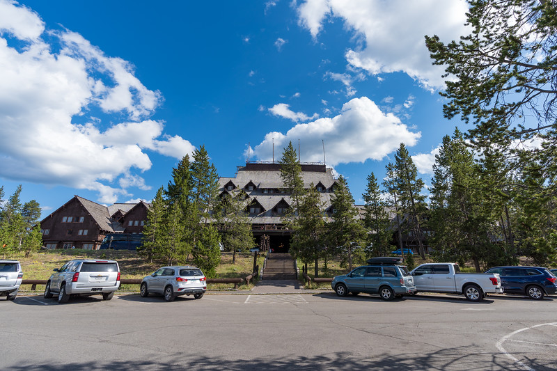Jul 27 Old Faithful Lodge; we did not stay here