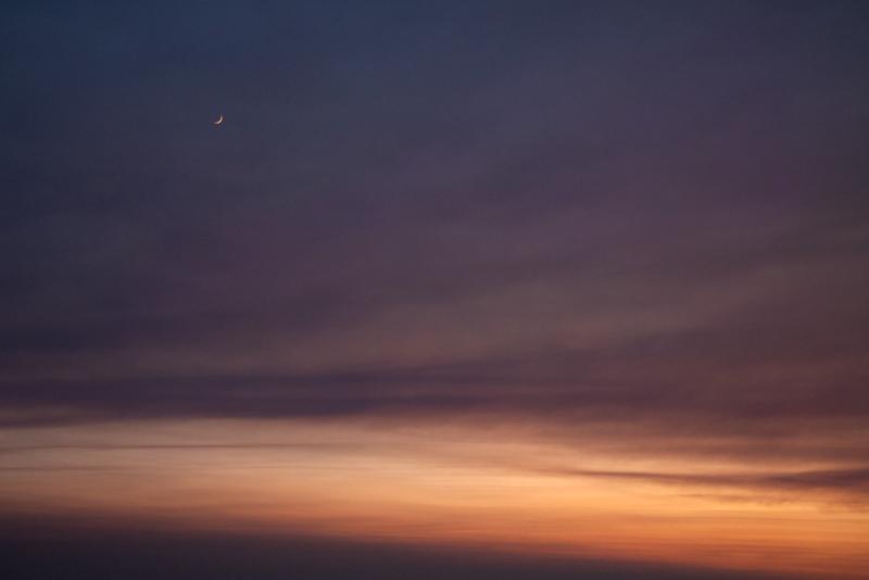 November 10 - Sun setting and moon rising, Los Angeles.jpg
