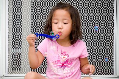 Eliana Blowing Bubbles: September 24, 2011