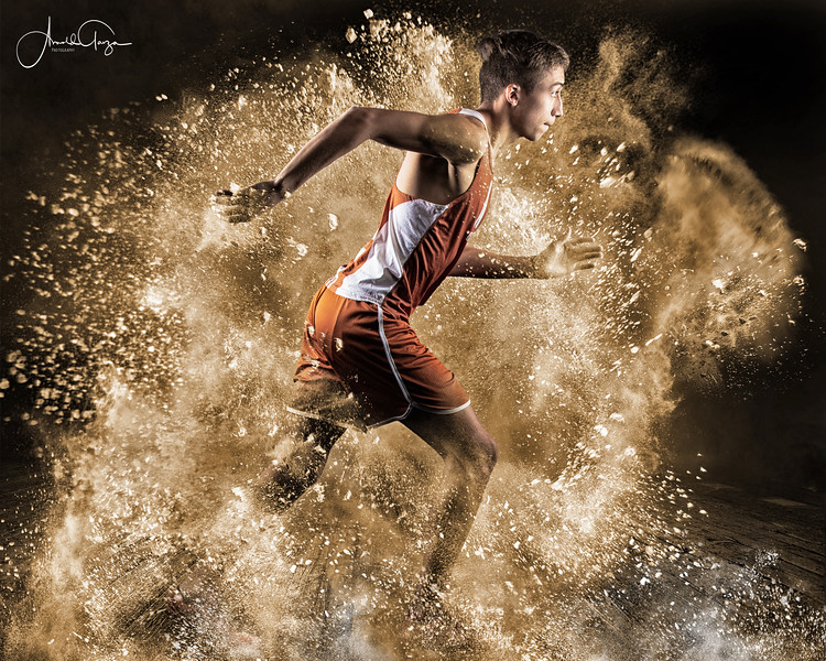 Powder Explosion Photoshop Template