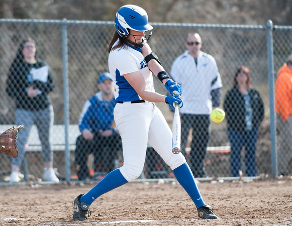 04/09/18 Wesley Bunnell | Staff Southington softball defeated Bristol Eastern 6-1 at Southington High School on Monday afternoon. Kara Zazzaro (18)