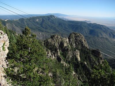Crest Rd.-Sandia Peak-Las Huertas Can. DS Ride - Crest Tr.-Upper La Luz Tr. Hike  7-5-10