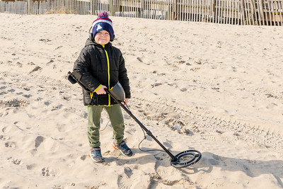 Jacob Searching for treasure!