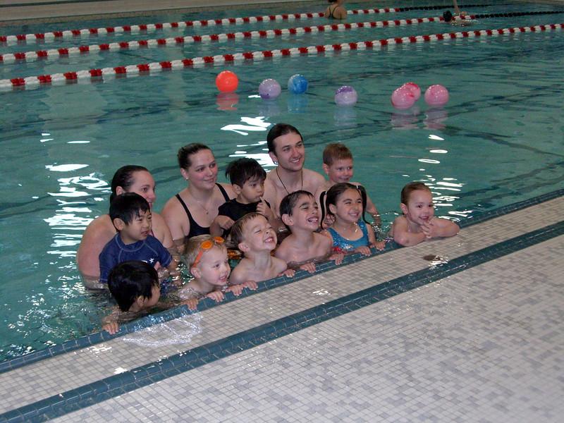 Class photo. Swim lessons - week 6 (final class)