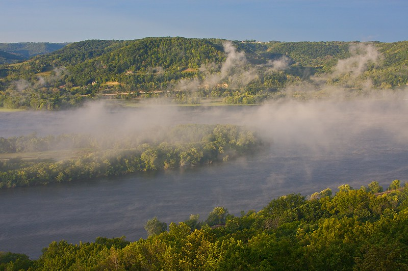 Sunrise from Brady's Bluff Perrot State Park Wisconsin.