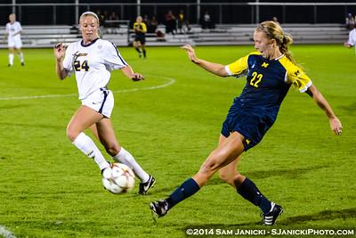 2nd Half from UM Women's Soccer Vs Toledo 9-5-14