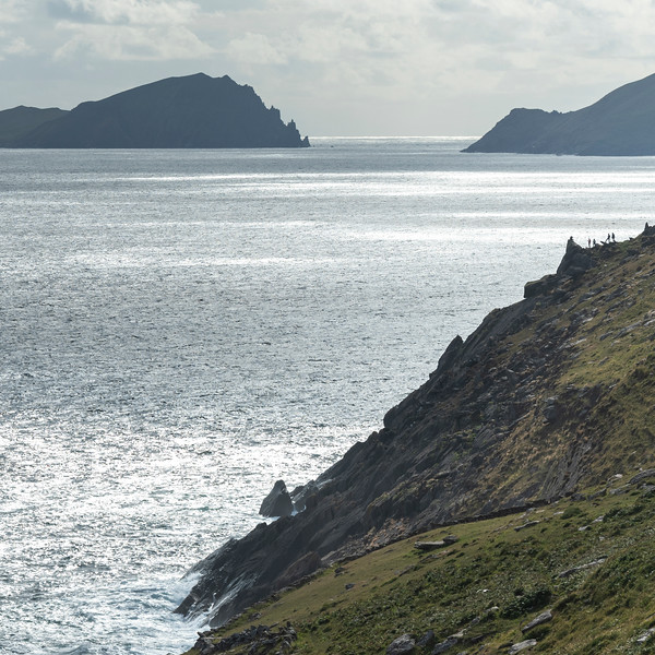 Scenic view of coastline, Ballyferriter, County Kerry, Ireland