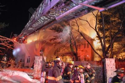 Westbury F.D. Working Fire Steel Hill Road 2/8/11