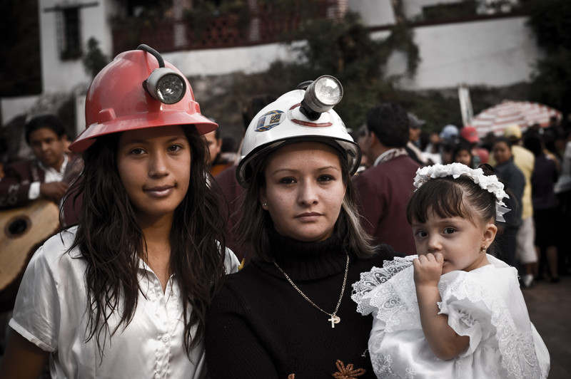 The family of a Miner in Guanajuato, Mexico.