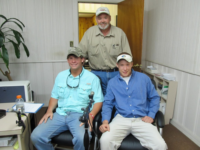 "Tyler Henson and Hunter Crouch co-hosted the ""Gettin' Outdoors"" Show with Big Daddy Lawler on WJDB March 19th"