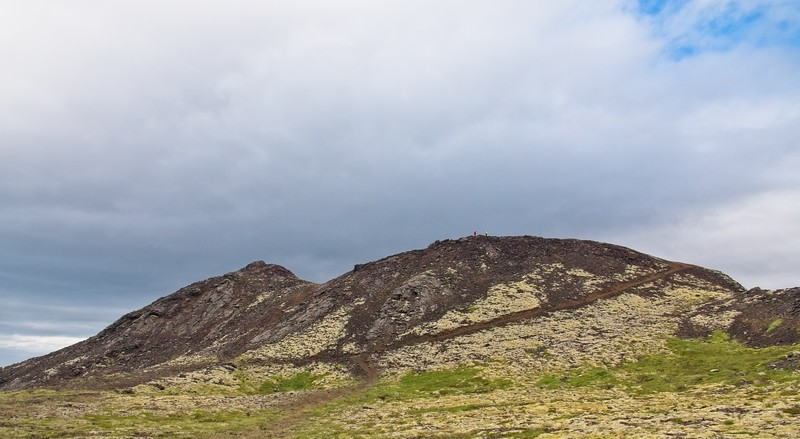 The Crater of Stora Eldborg, 200m in diameter and 60m deep.
