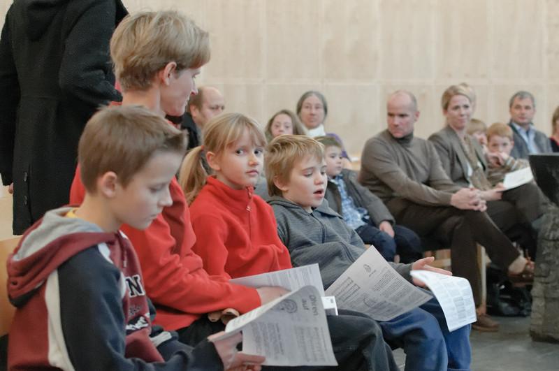 Pastor Friedbert hatte wieder schöne Lieder ausgewählt.