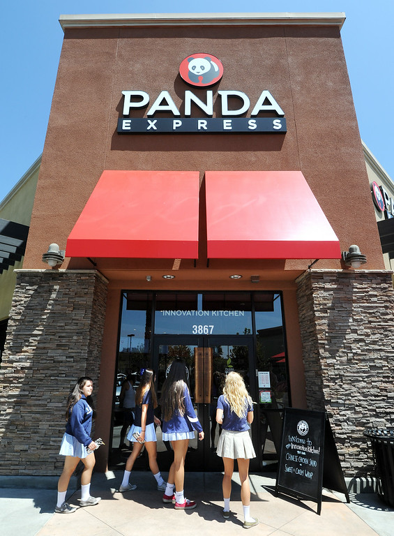 . This Panda Express, located at 3867 East Foothill Boulevard in Pasadena Thursday, August 21, 2014.  This unique restaurant is the  location of the chain\'s Innovation Kitchen. Here, consumers can try test cuisine and also contribute their own ideas for new dishes.  (Photo by Walt Mancini/Pasadena Star-News)