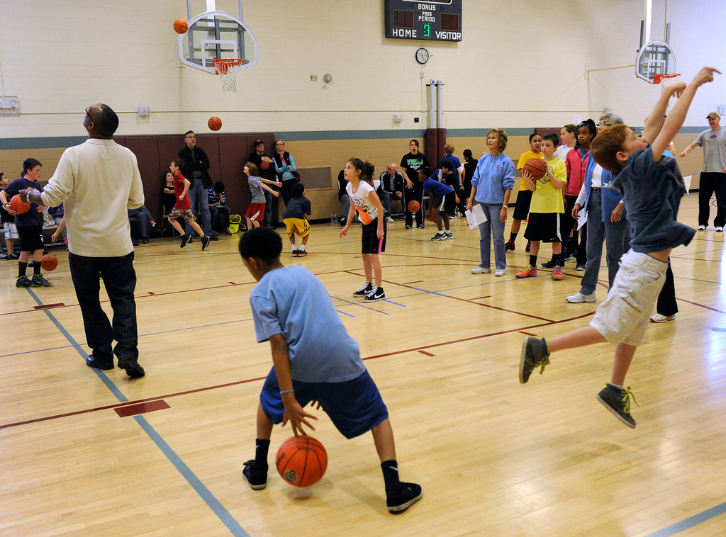 . DENVER, CO. - FEBRUARY 23: The Tamarac Optimist Club sponsors one of the Tri-Star Basketball Competitions at the Eisenhower Recreation Center in Denver. The competitions are held over a several week period for boys and girls 8-13 years-old. The winners from this competition go on to the regional finals, and those winners will play in the final competition on Mar. 23, 2013 at the Pepsi Center before a Nuggets game. There are still several opportunities for kids to try out. Go to www.tristarbasketball.org for upcoming times and locations. (Photo By Kathryn Scott Osler/The Denver Post)