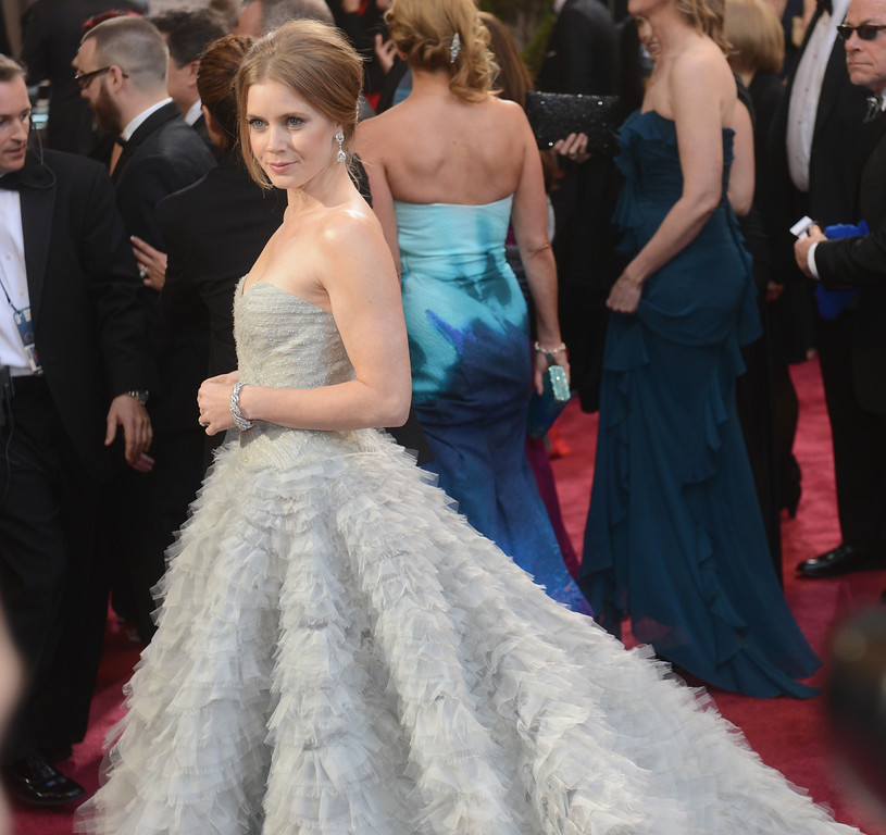 . Amy Adams arrives at the 85th Academy Awards at the Dolby Theatre in Los Angeles, California on Sunday Feb. 24, 2013 ( Hans Gutknecht, staff photographer)