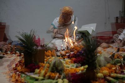 Ceremonia del fuego.