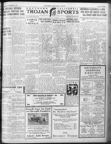 Daily Trojan, Vol. 23, No. 56, December 03, 1931
