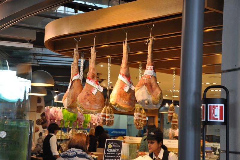 Ham snacks in Venice airport