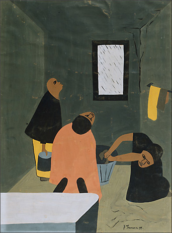 "Jacob Lawrence, ""Rain No. 1"" (1937)"