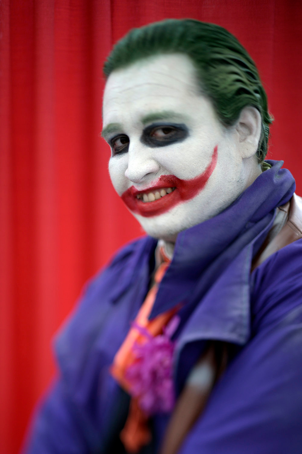 . Gabriel Sotelo 30-years-old poses as the Joker as he attends the Denver Comic Con June 2, 2013 at the Colorado Convention Center. The Convention brought in more than 45,000 for the three day weekend. (Photo By John Leyba/The Denver Post)