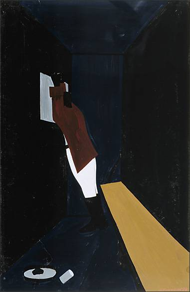 "Jacob Lawrence, "" The Life of Toussaint L'Ouverture No. 37,"" (1938)"