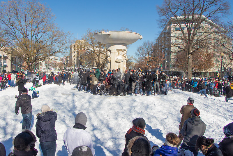 Jan. 24th - Dupont Circle Snowball Fight