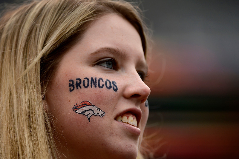 . Nicole Adams of NJ at the game between the Denver Broncos and the Baltimore Ravens at the M&T Bank Stadium, in Baltimore , MD Sunday December 16, 2012.      Joe Amon, The Denver Post