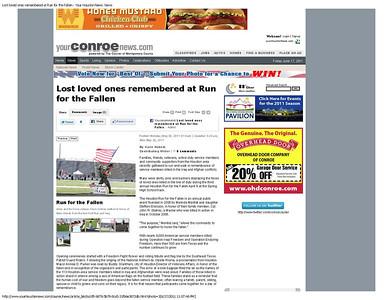 Conroe Courier Memorial Day 2011