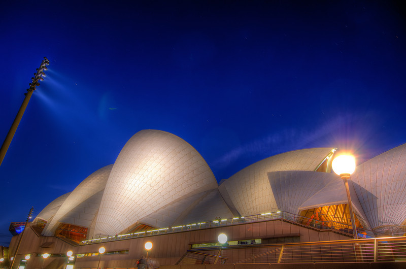Unusual view of Sydney Opera House