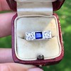 .40ctw 3-Stone Sapphire and Diamond Band by Relais 4