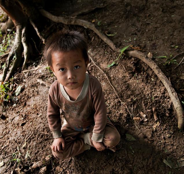 Hamoung boy in the village of Naoen.  Laos, 2010.