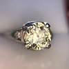 1.88ctw Platinum Filigree Solitaire Ring by C.D. Peacock, GIA S-T, VS 21