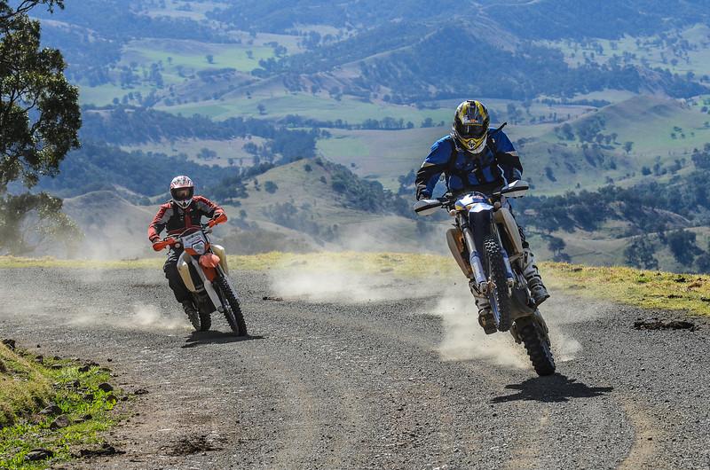Matthew Mann & Rusty Coxall on their way over the Barrington Tops (Dirt Action magazine)