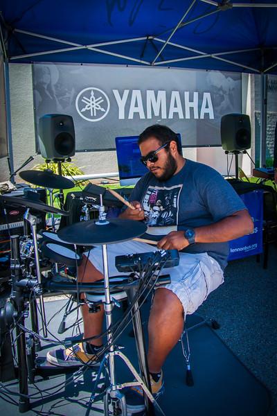 2014_04_24, Pomona, CA, Cal Poly Pomona, Yamaha, Tents