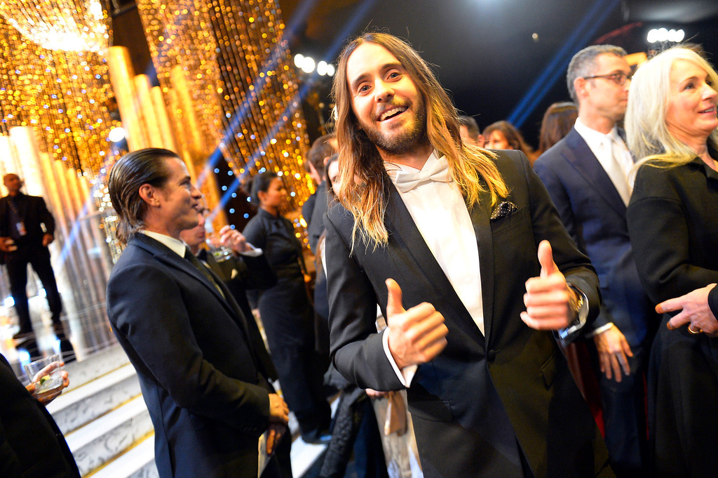 ". Jared Leto, �Dallas Buyers Club"" during the show of the 20th Annual Screen Actors Guild Awards  at the Shrine Auditorium in Los Angeles, California on Saturday January 18, 2014 (Photo by Andy Holzman / Los Angeles Daily News)"