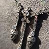1.63ctw Victorian Triple Drop Diamond Necklace 17