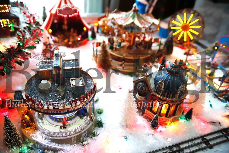 Eighty-year-old Ernie Taylor's Christmas model display. Seb Foltz/Butler Eagle